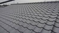 新築屋根工事 和型(淡路いぶし瓦) 使用